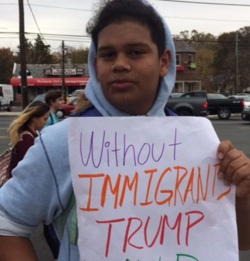 Students march in Silver Spring to protest election