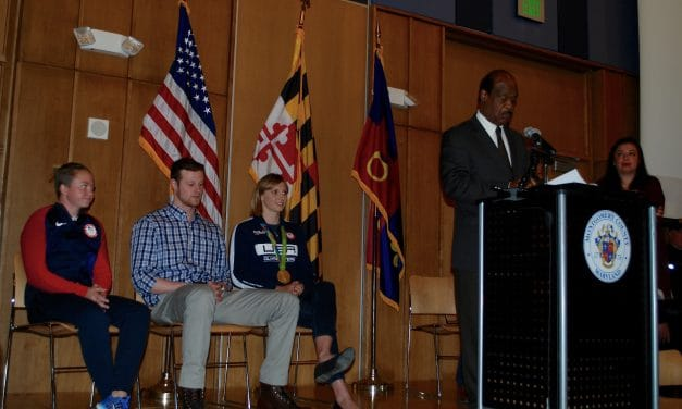 Four Olympians honored during ceremony in Silver Spring