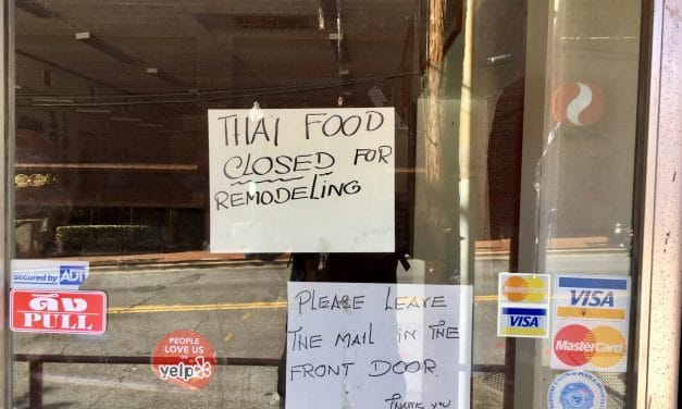 Thai Market Closed; Restaurant Closed for Remodeling