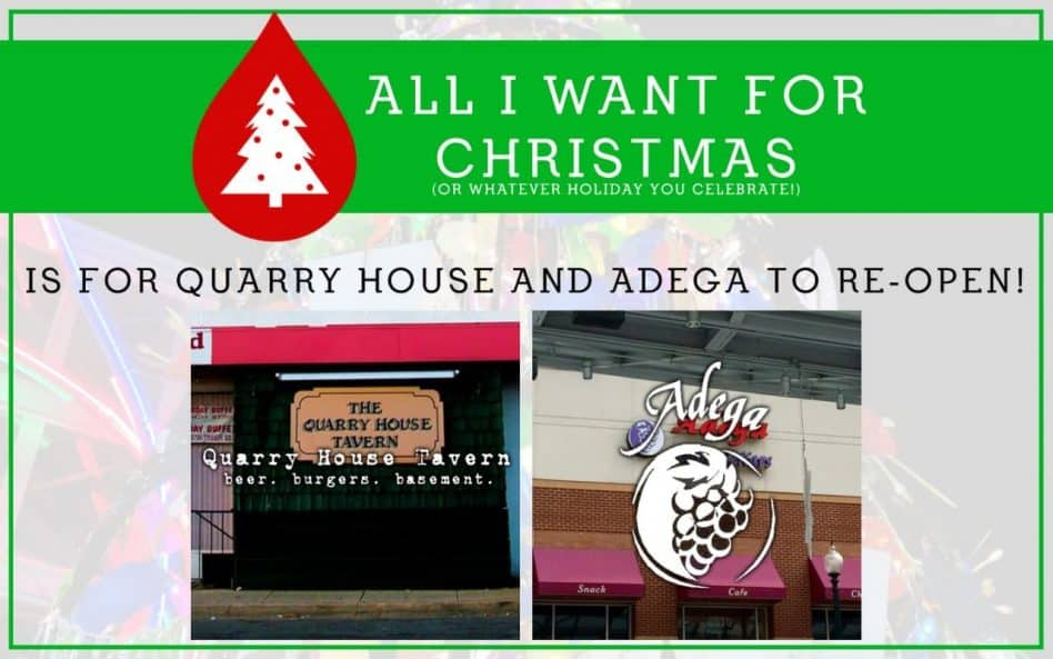 Quarry House Tavern/Adega Wine Cellars Update