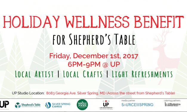 Holiday Wellness Benefit for Shepherd's Table tomorrow night