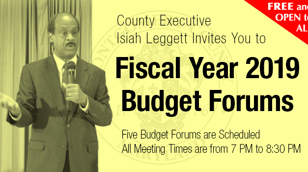 County executive to hold budget forum Tuesday night