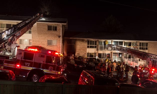Fire damages Parkside Terrace Apartments, one hurt
