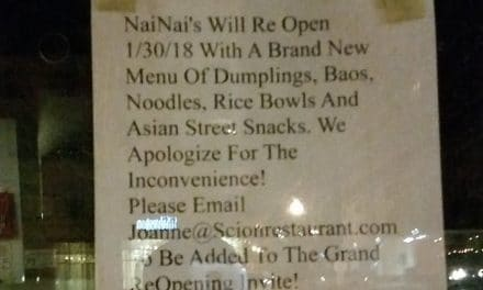 NaiNai's temporarily closed to implement changes