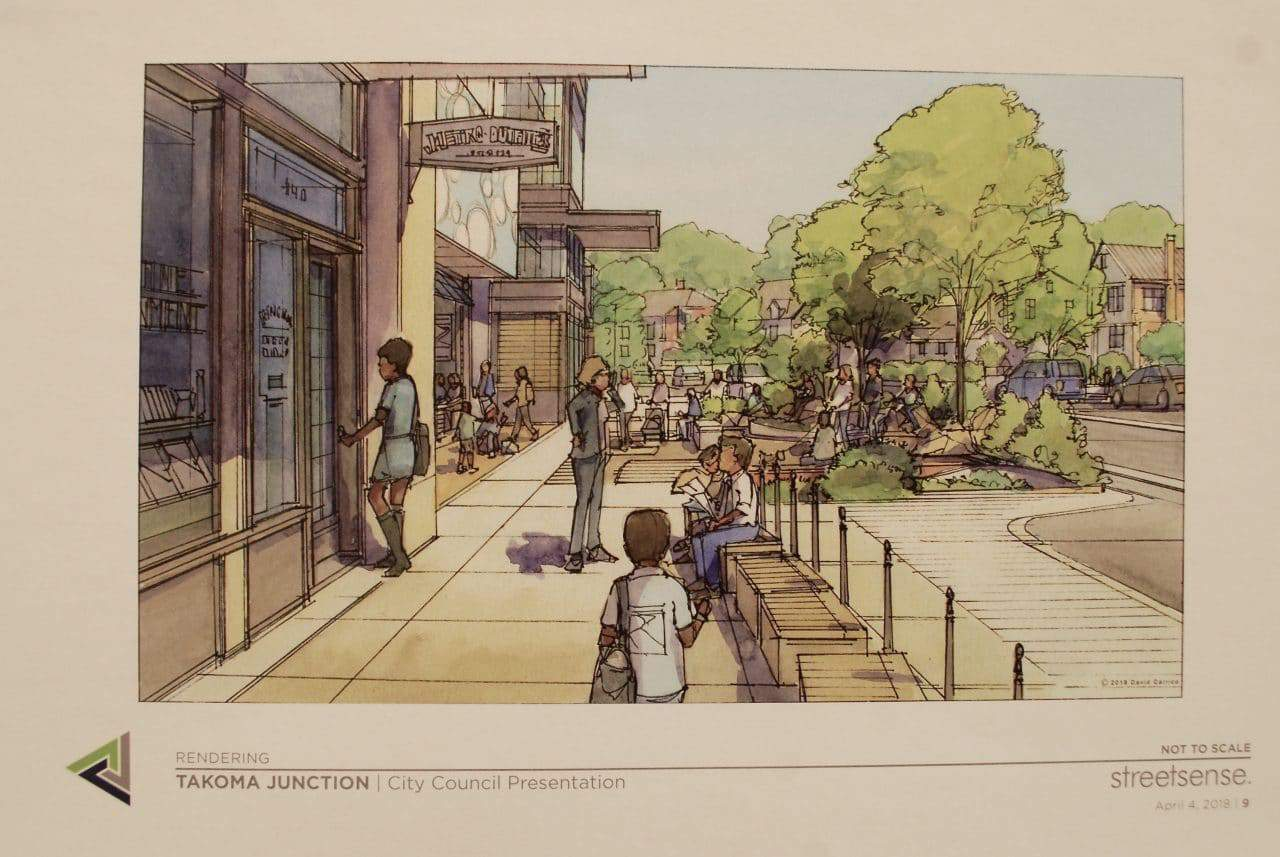 Takoma Junction draft redevelopment plan presented to residents