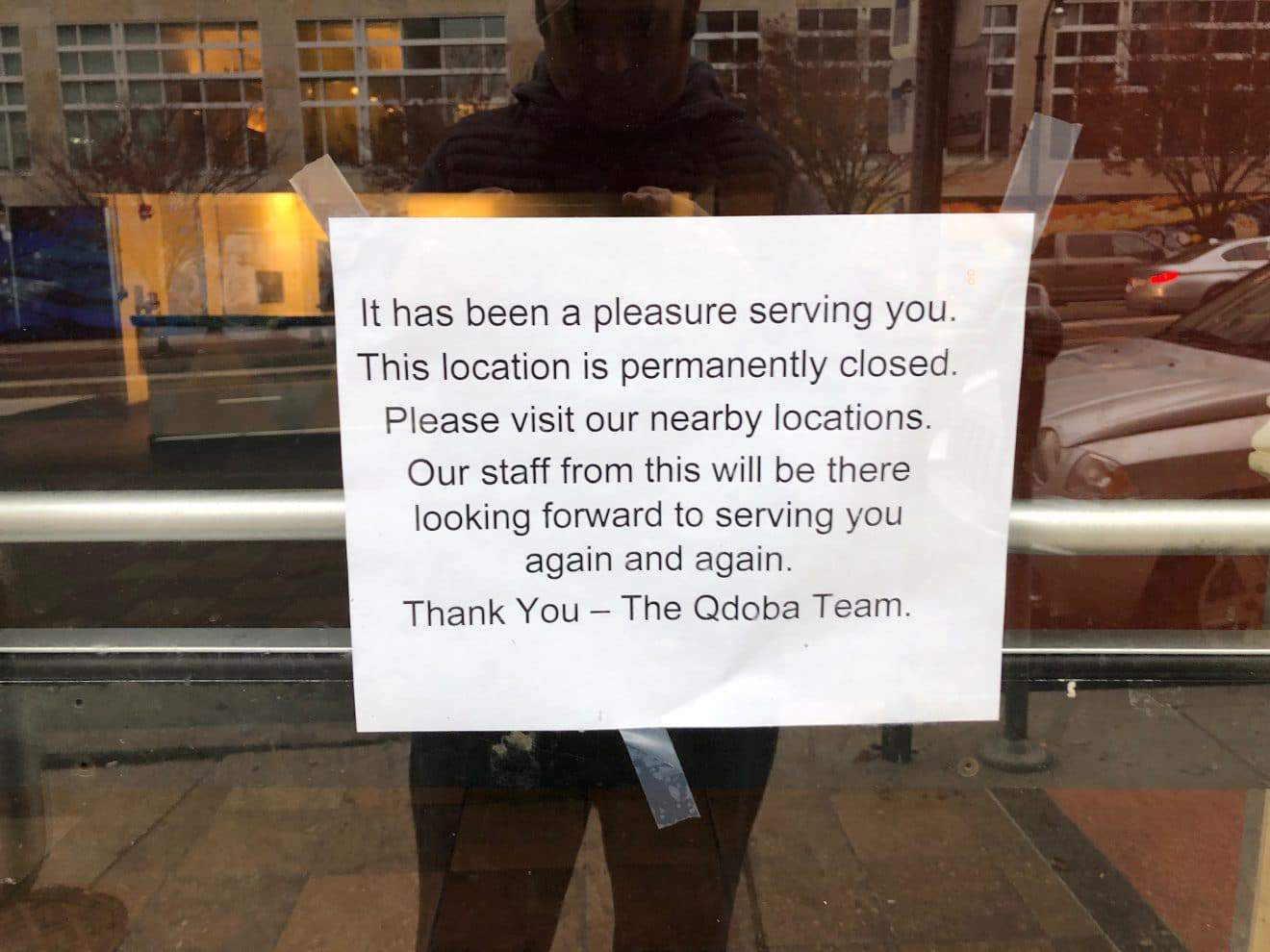 Qdoba on Colesville Permanently Closed