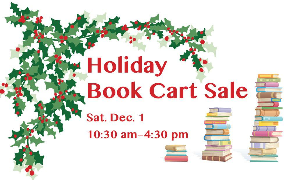 Holiday Book Cart Sale