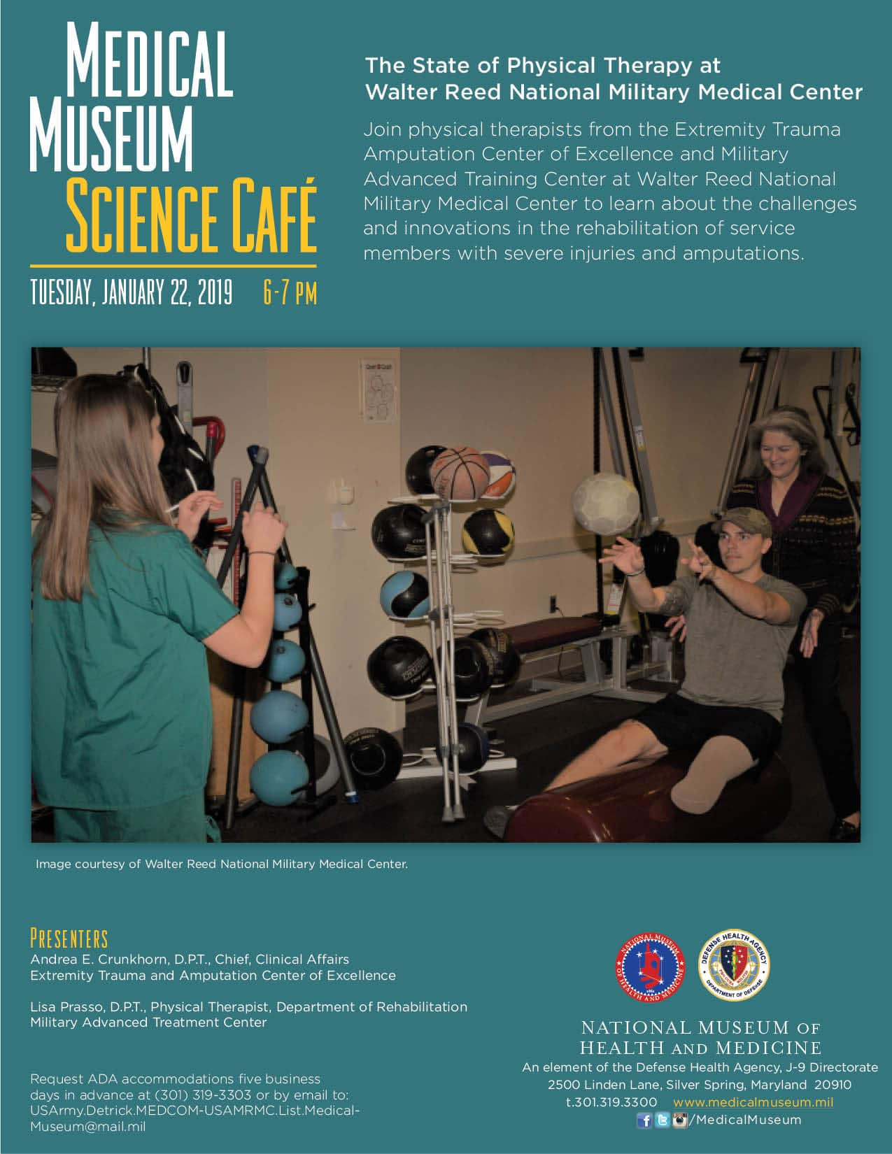 Medical Museum Science Cafe: The State of Physical Therapy at Walter Reed National Military Medical Center