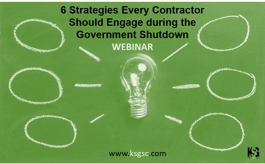 6 Strategies Contractors Should Engage during the Government Shutdown