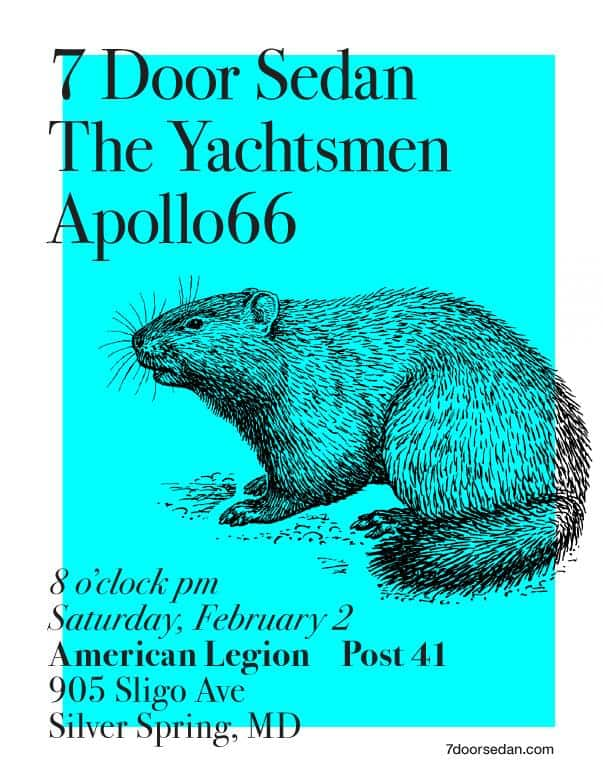 Garage Rock Night! Free live music with 7 Door Sedan, The Yachtsmen and Apollo 66!
