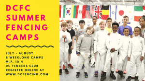 Summer Fencing Camps at DC Fencers Club
