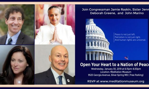 Open Your Heart to a Nation of Peace with Special Guest Congressman Jamie Raskin (MD)!
