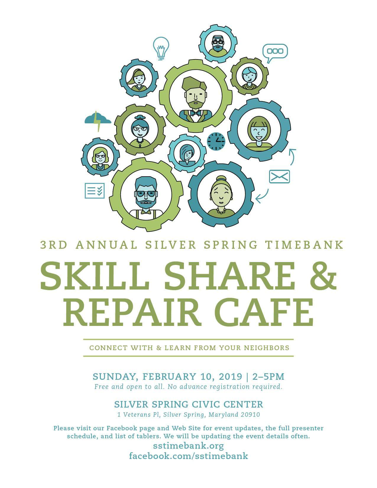 3rd Annual SSTB Skill Share and Repair Cafe