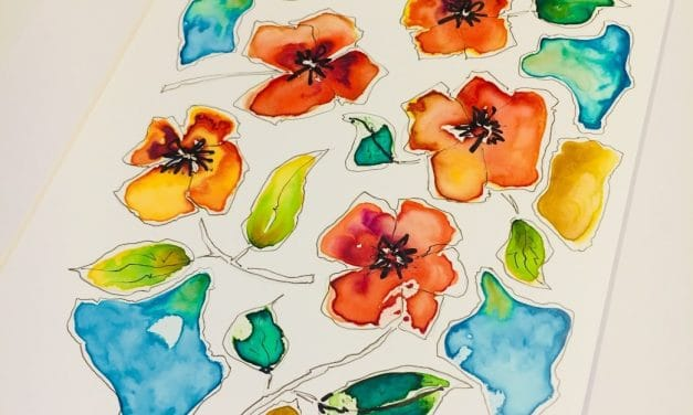 Watercolor on Yupo: Magnificent Florals