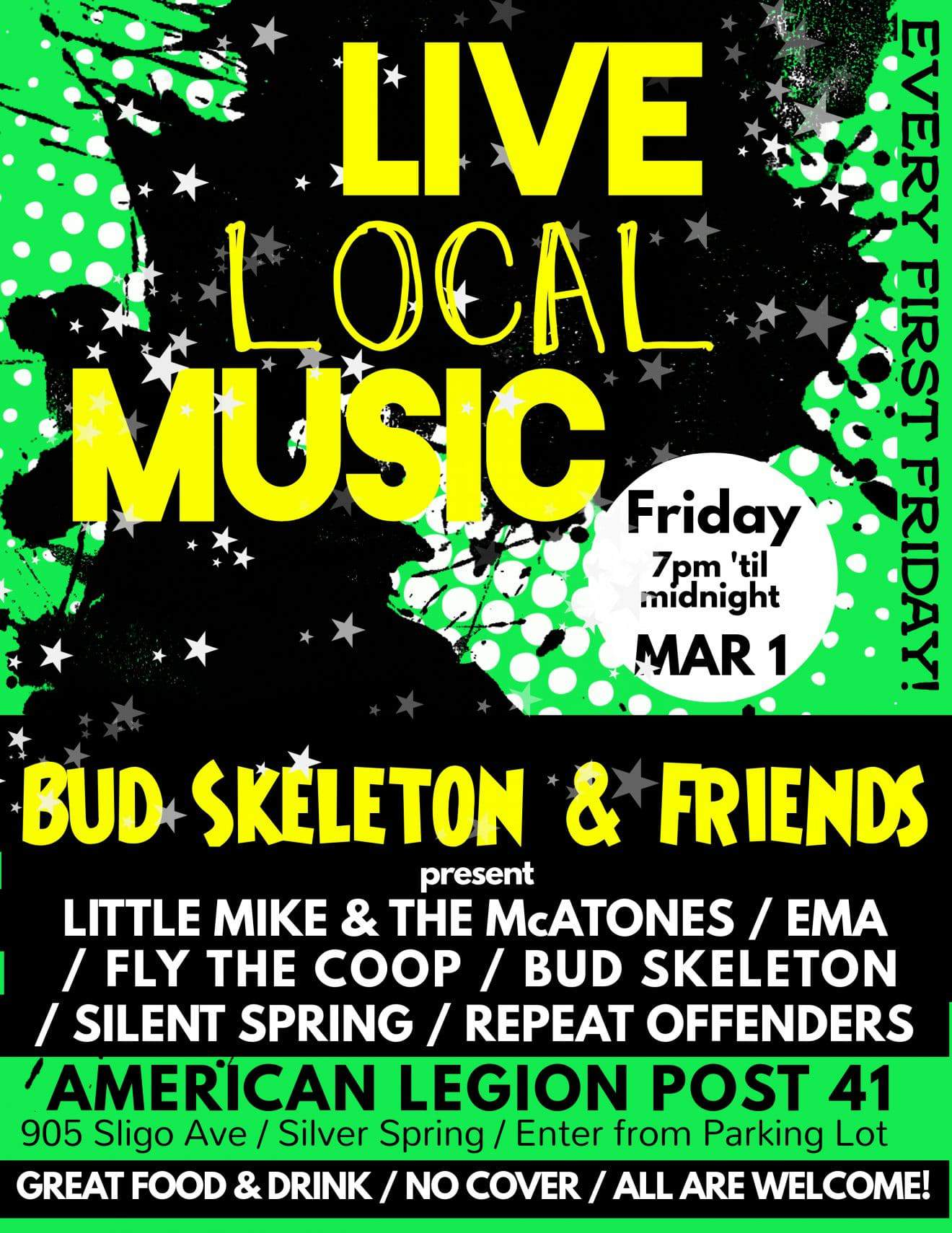 Bud Skeleton & Friends - Live Music!