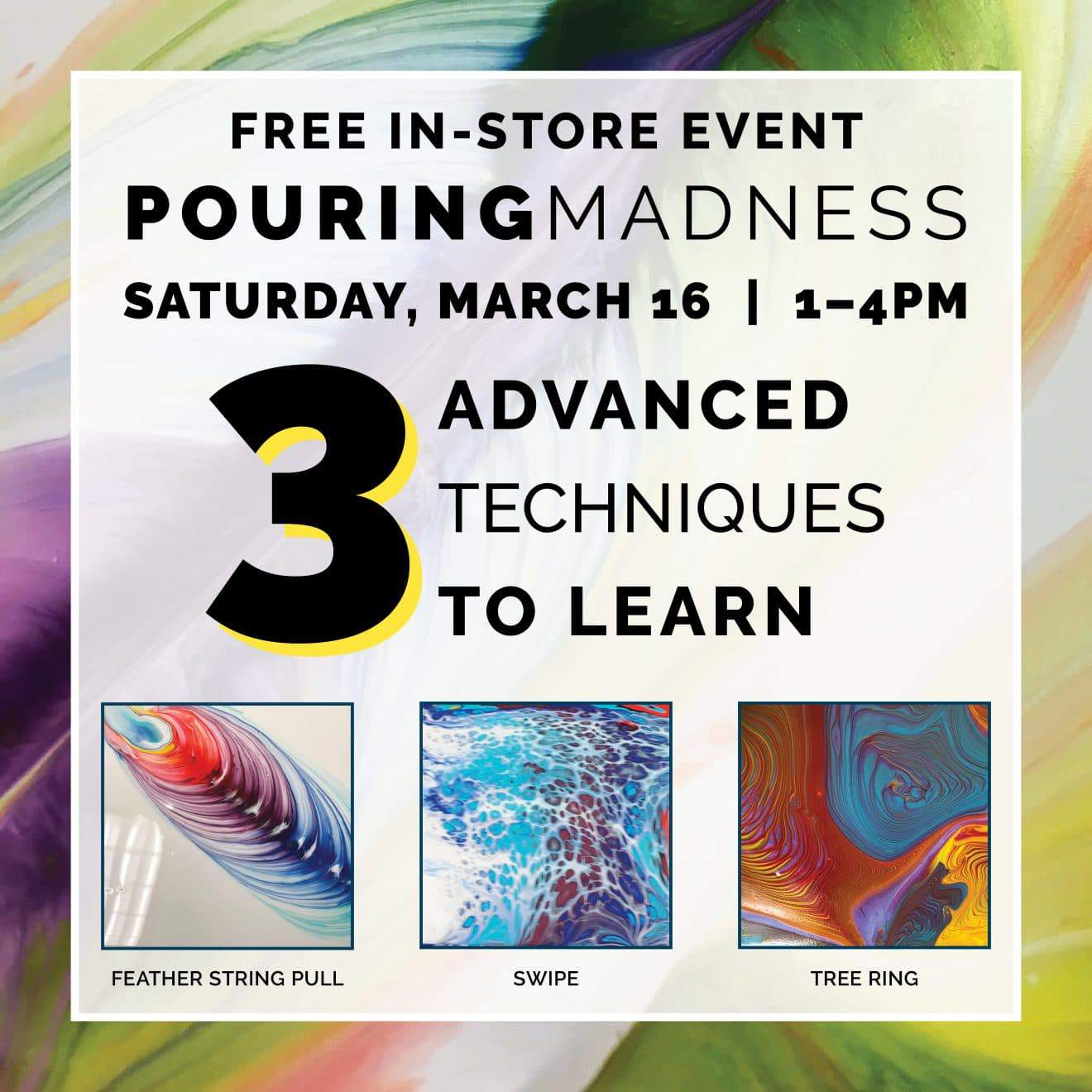 Pouring Madness! A paint pouring experience!