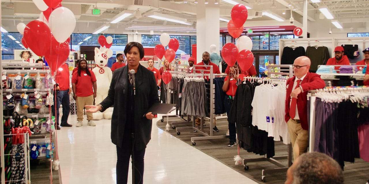 Bowser, Residents, Target Officials Cut Ribbon on Shepherd Park Store