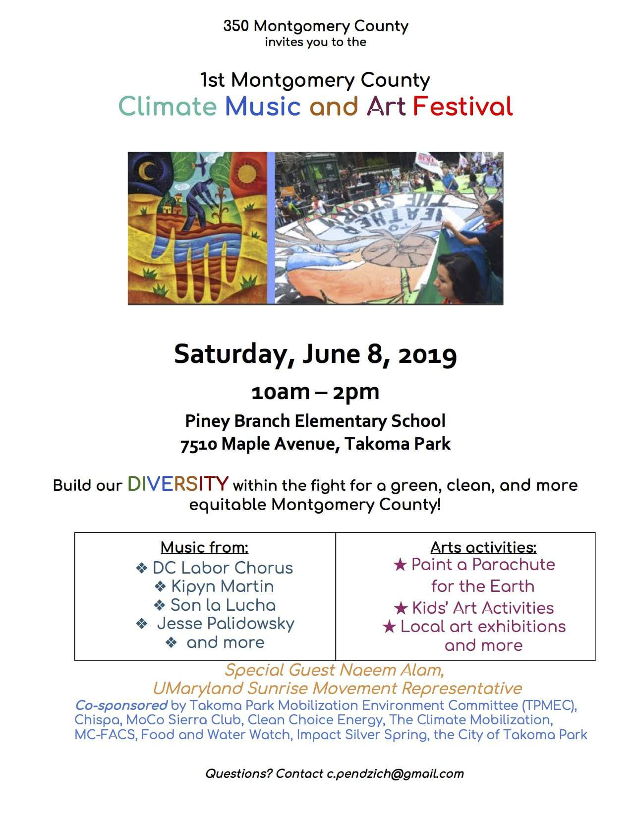 Montgomery County Climate Music and Art Festival