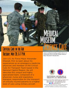 Medical Museum Science Cafe: Critical Care in the Air