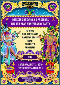 Denizens 5th Year Anniversary: Let the Good Times Roll!