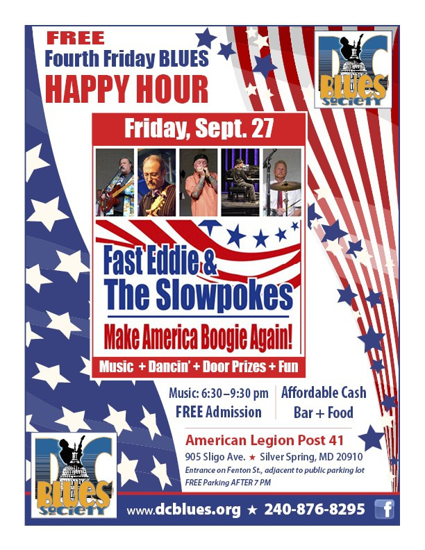 DC Blues Society's 4th Friday Happy Hour - Sept 27