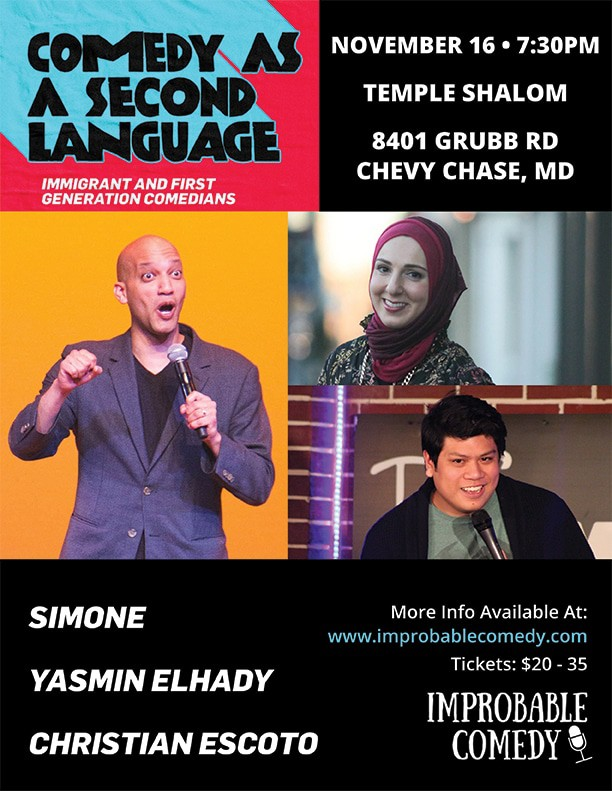 Comedy as a Second Language at Temple Shalom