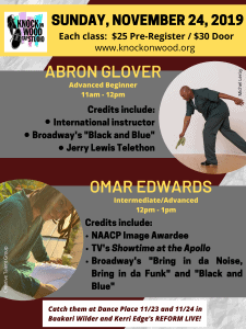 Pop Up Tap Classes with Abron Glover and Omar Edwards